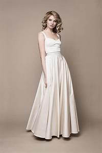 Brautkleid Vintage Schlicht : vintage boho brautkleid in creme gold t nen kleiderfreuden ~ Watch28wear.com Haus und Dekorationen