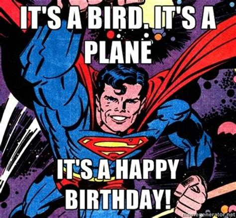 Superhero Birthday Meme - superman happy birthday superman comics dc birthday violet ashes superman pinterest