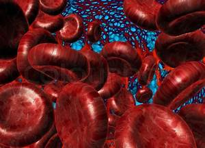 Red Blood Cells On Tissue Background