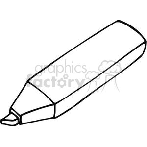 marker clipart black and white royalty free black and white outline of a highlighter