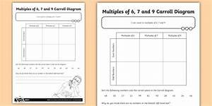 Multiples Of 6  7 And 9 Carroll Diagram Worksheet