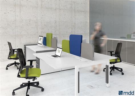 cloisonnette bureau bureaux open space blanc orange
