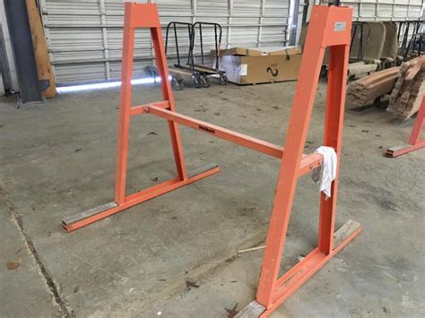 steel a frame granite rack