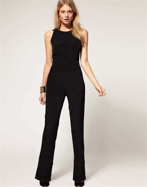 asos black jumpsuit asos collection asos exclusive jumpsuit with cross