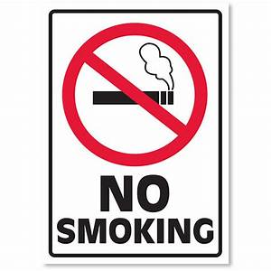 small signs for your business no smoking auto supply With kitchen cabinets lowes with no smoking stickers