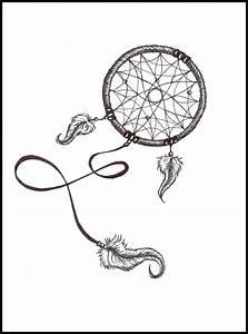 Tatouage Capteur De Rêve : attrapes r ves capteurs de r ves tatouage tattoo plume dessin crayon drawing projets ~ Melissatoandfro.com Idées de Décoration