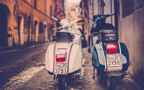 Piaggio Wallpapers by Scooter Piaggio Road Rome Italy Wallpaper Hd