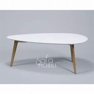 Table Basse Nordique : table basse style scandinave blanc ou gris maja blanc achat vente table basse table basse ~ Teatrodelosmanantiales.com Idées de Décoration