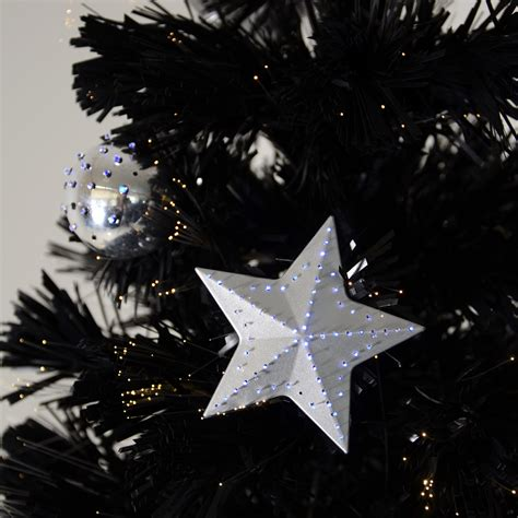 Fibre Optic Christmas Trees Sale Black 6ft by 6ft 180cm Christmas Black Fibre Optic Tree With Warm