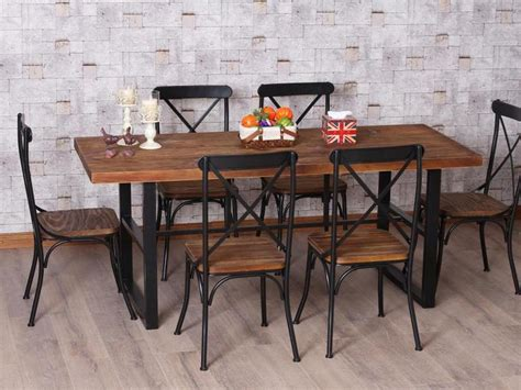 iron and wood dining table wrought iron dining table retro yet modern blogbeen 7585