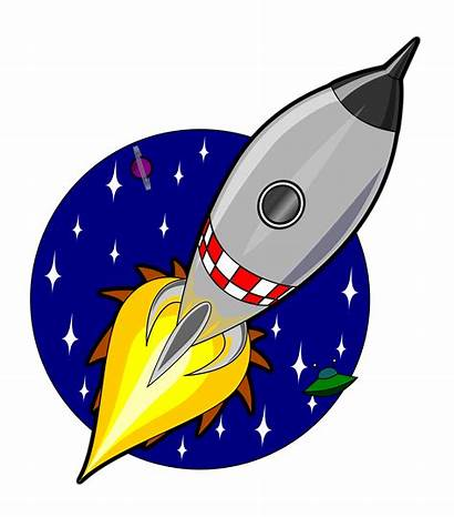 Rocket Cartoon Animation Using Javascript Clipart Svg