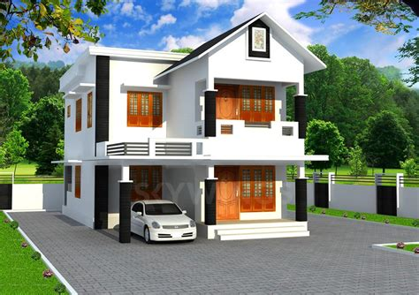 3 Bhk Home Design : 3 Bhk Double Floor Contemporary Styled Home Design At 1700
