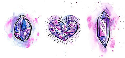 drawn crystals crystal heart pencil   color drawn