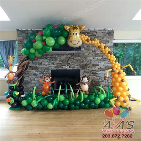 resultado de imagen  diy jungle party decorations