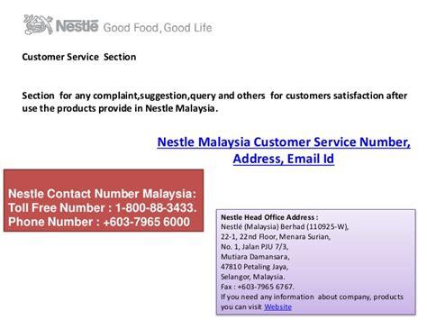 s secret customer service phone number nestle malaysia berhad