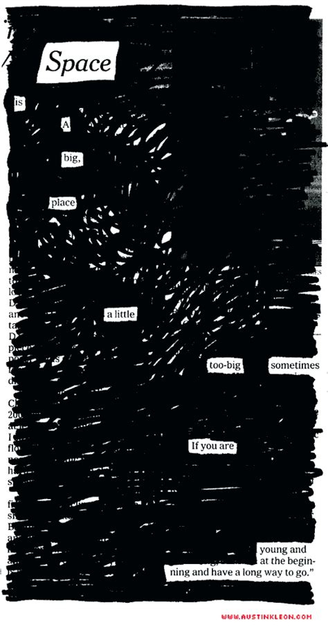 austin kleon  images blackout poetry  poetry