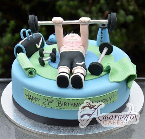 gym theme cake nc amarantos cakes