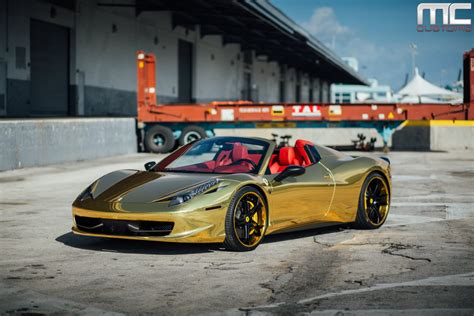 gold ferrari robinson cano s gold ferrari 458 by mc customs