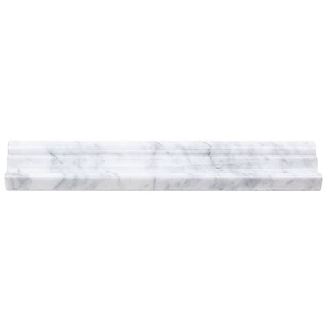 soho studio corp marble moldings chair rail white carrara