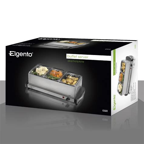 Elgento E322 155l Three Tray Buffet Stainless Steel