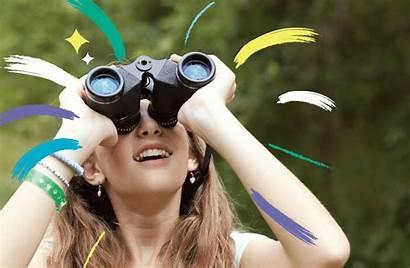 Binoculars Space Clear Camp