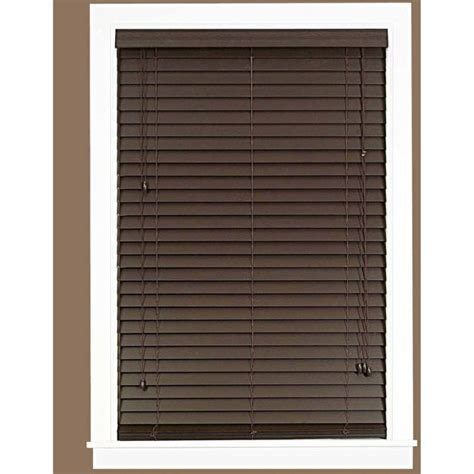 wood blinds walmart madera falsa 2 quot faux wood plantation blinds walmart
