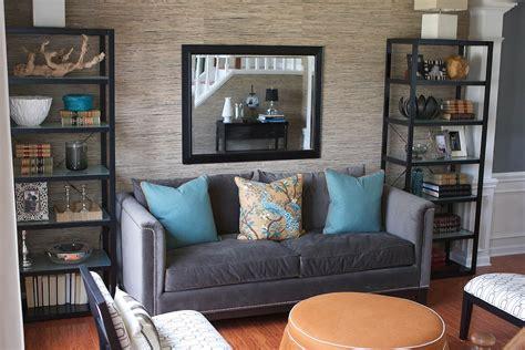 grasscloth wallpaper  living room  grasscloth