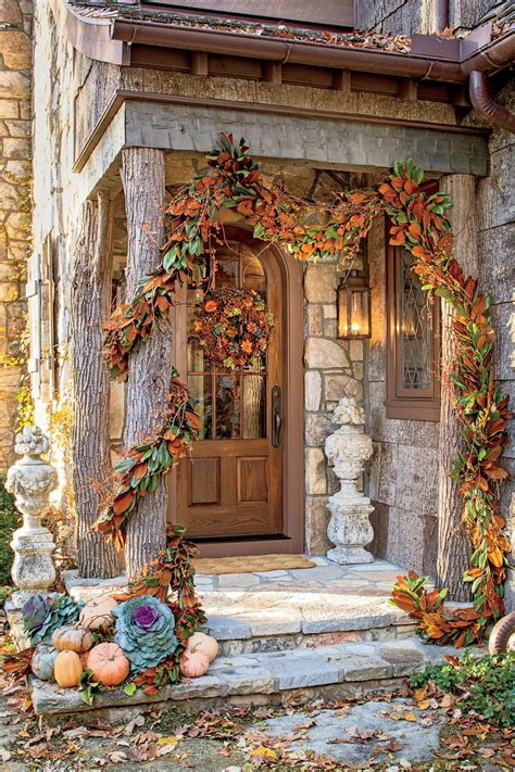Decorating Ideas For Fall Outside by Outdoor Decorations For Fall Southern Living