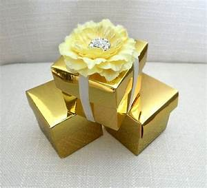 gold wedding favor box gold favor box jewelry box metallic With gold wedding favor boxes