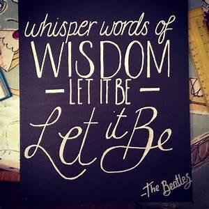 Whisper Words Of Wisdom - Let It Be - The Beatles www ...