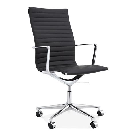 cult living black ribbed office chair with high back cult uk