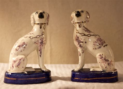 english staffordshire porcelain dogs