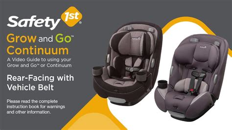 Safety 1st Grow And Go™ 3 In 1 And Continuum 3 In 1 Rear