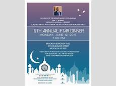 12th Annual Iftar Dinner Office of the Brooklyn Borough