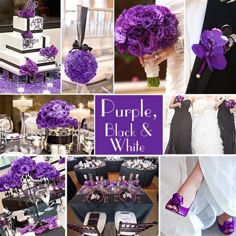 purple wedding color combination options wedding colors white weddings and black and white