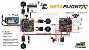 Betaflight F3 Flight Controller Anschlussplan    Wiringplan