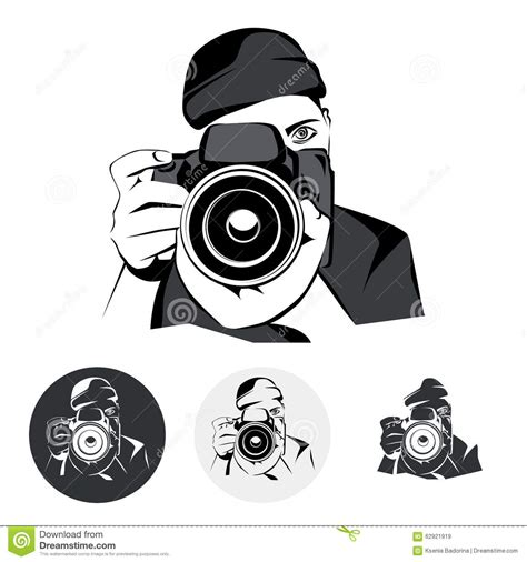 photographer graphic stylized drawing vector illustration stock vector illustration of