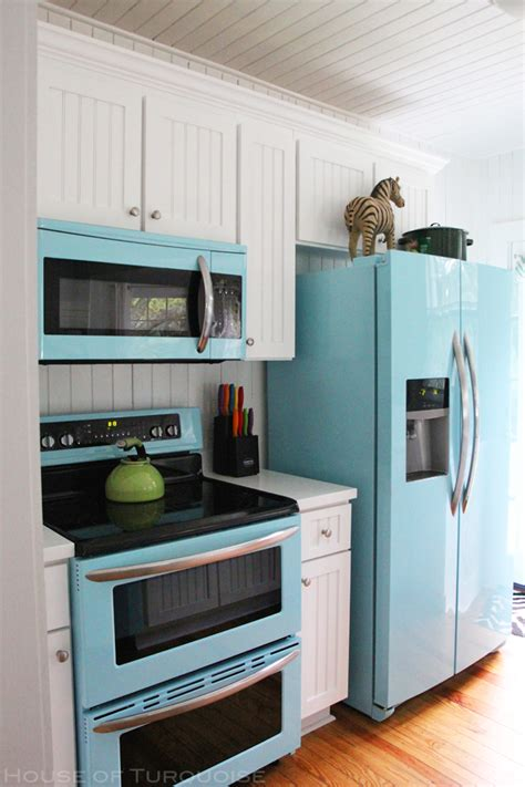 colored kitchen appliances mo s pink zebra cottage tybee island ga house of 6265