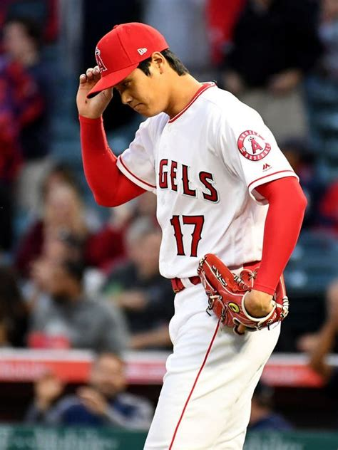 angels shohei ohtani removed  game  red sox