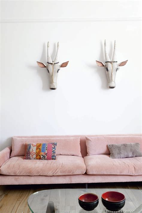 chic blush pink sofas   style