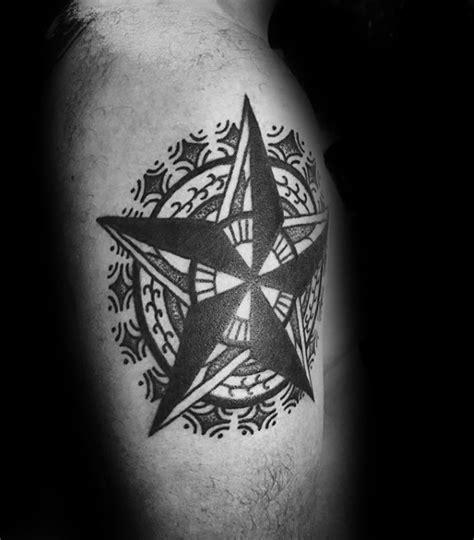 nautical star tattoo designs  men manly ink ideas