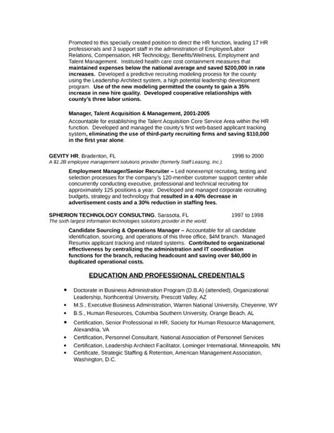 professional hr representative resume template page 3