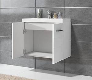 Badezimmer Unterschrank Hochglanz : badezimmer barm bel toledo 01 60 x 35 cm hochglanz wei unterschrank schrank waschbecken ~ Markanthonyermac.com Haus und Dekorationen