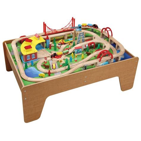 thomas wooden railway table brio train tables and sets toy train center
