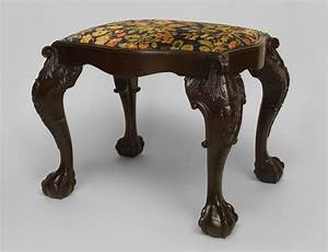 English Chippendale Seating Benchstool Mahogany