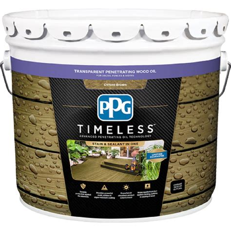 ppg timeless  gal tpo  oxford brown transparent