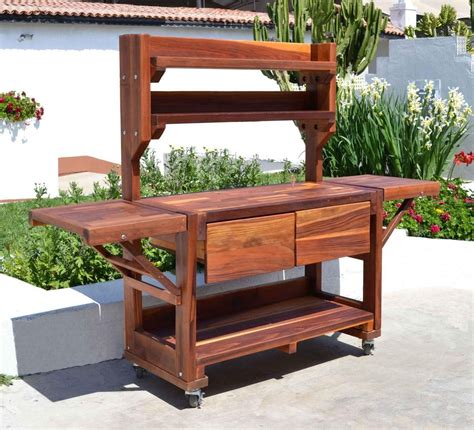 elis potting bench options large size redwood casters