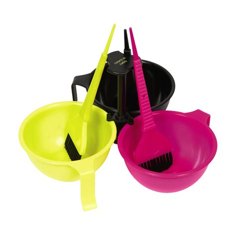 bowl colors colortrak tools caddy with bowl and brushes