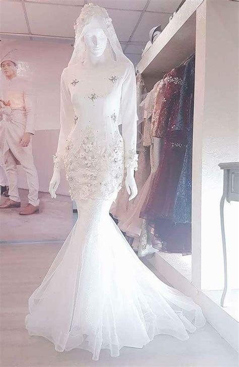 baju nikah putih   dresses hijab evening dress