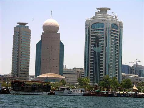 Dubai 04 07 Deira Etisalat Tower And Dubai Creek Tower